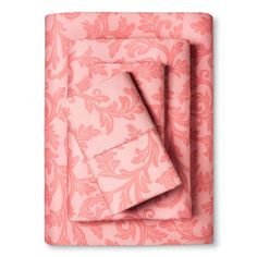Home Styles Damask Cotton Sheet Set (Twin) Rose (Pink) - Elite Home