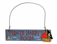 Personalised Pirate Wooden Door Sign