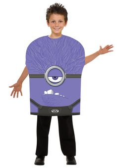 The Purple Minion Kids Costume is the best 2019 Halloween costume for you to get! Everyone will love this Boys costume that you picked up from Wholesale Halloween Costumes! Evil Minion Costume, Despicable Me Halloween Costume, Purple Minion Costume, Homemade Minion Costumes, Halloween Costumes For Kids, Halloween Ideas, Purple Halloween, Evil Minions, Minions Despicable Me