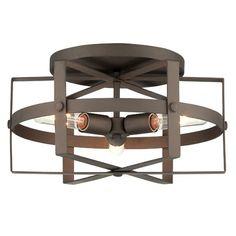 Reel 3 Light Flush Mount Ceiling Light $299