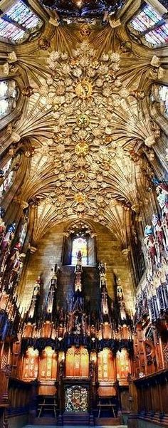 Thistle Chapel St Giles Chathedral, Edinburgh Scot...