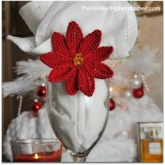 Free pattern & Review ~ Poinsettia Napkin Ring by Craft Passion