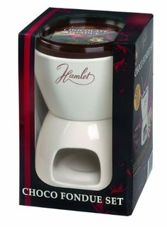 Hamlet Chocolate Fondue Set with 4 Fondue Forks, Chocolate Drops 250 g and Fondue Ceramic Pot 250 g: Amazon.co.uk: Grocery