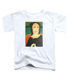 Patrick Francis White Designer Toddler T-Shirt featuring the painting Mona Lisa 2014 - After Leonardo Da Vinci by Patrick Francis