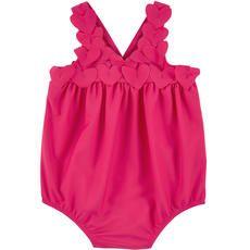 Lili Gaufrette - Stretch lycra one-piece swimsuit - Raspberry - 106393