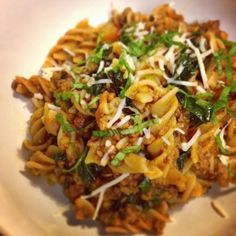 Ripped Recipes - Brown Rice Pasta W/ Kale Bolognese  - Comforting dish made healthy!