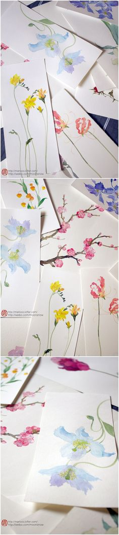 New flowers art painting watercolor techniques water colors 70 ideas Watercolor Cards, Watercolour Painting, Watercolor Flowers, Painting & Drawing, Painting Flowers, Drawing Flowers, Watercolor Portraits, Watercolor Landscape, Simple Watercolor