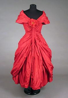 Unlabeled Red Dior Ball Gown, 1957<br /> Session 2 -  Lot 762 - $750