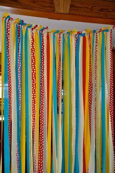 Nine Foot Fabric Rag tie Wall banner Fabric by RekindledPleasures, $105.00