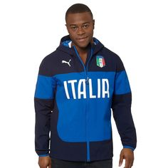 40f35ce4ab PUMA FIGC Italia Hooded Rain Jacket | - from the official Puma® Online Store