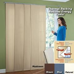 Insulated Sliding Curtain Panels available at Fresh Finds. The easy way to insulate patio windows and sliding doors! Browse our other New u0026 Seasonal ... & Insulating a Sliding Glass Door with 1