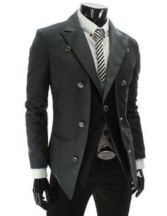 Tattee Boy Clothes | Men's Double Layer 1 Button Blazer