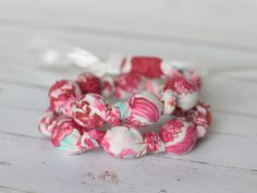 Fabric Necklace for teething baby | Teething Necklace - The Vintage Honey Shop
