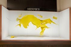Vitrine Hermès Paris. Hermès windows Paris. Designed by Joséphine Pinton. Photo…