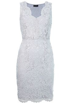 Grey Sleeveless V-neck Floral Lace Bodycon Dress