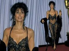 Image result for cher oscar dress