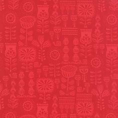 Moda Fabric Lil Red Grandmas Wallpaper Red from £2.75 - www.modafabric.co.uk