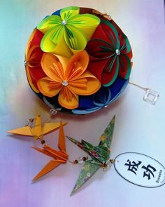 Kusudama bola de flores super 1