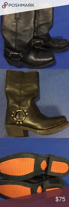 """Women's Harley Davidson Boots Black Harley boots. Excellent condition. 2"""" heel. Harley Davidson Shoes Combat & Moto Boots"""