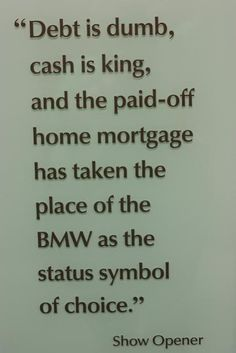 cash is king: This is What We are Striving Towards….