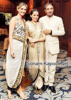 Sonam Kapoor at the Anamika Khanna fashion show