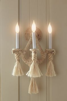 Casa Acanto - ROPE Sconce. Please contact Avondale Design Studio for more information on any of the products we feature on Pinterest