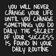 """""""It's time for a change this week! What daily habit are you going to change? Comment below! #healthyliving #change #motivation #badhabits"""""""