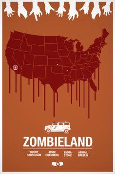 Minimalist Movie Poster: Zombieland by Glenn O'Connell