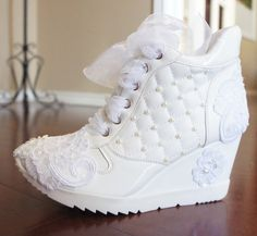wedding shoes wedge sneakers bridal shoe by weddingshoeheaven wedding bride weddingshoes sneakers
