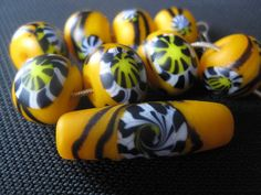 stoursglass  Psychedelic  Lampwork Beads by stoursglass on Etsy, $26.00