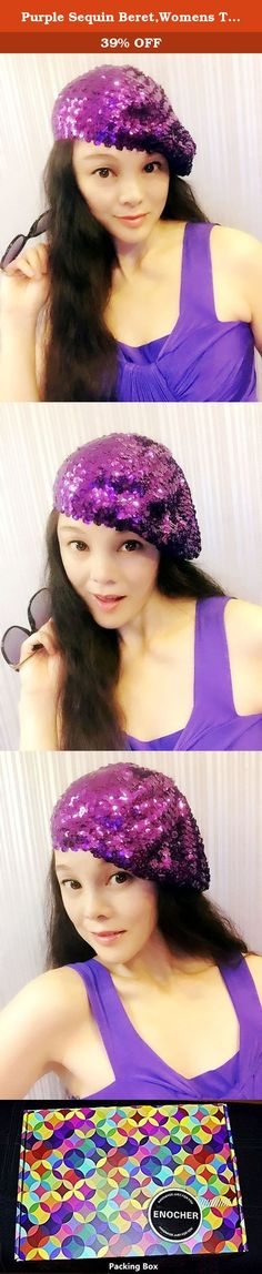Purple Sequin Beret,Womens Turban,Full Turban,Turban Headband,Turban Hat,Stretch Turban, Caps, Hats, Women Hats,Fashion Turban,Head Wrap,Head Scarf,Headband,Hipster,Fashion,Gift ,Show, Party ,Holiday. Incomparable shining, to add more charm. Easily adapt to your head shape and are designed to afford the individual wearer room to perfect their chosen positioning. This style can be worn centrally or to the side for an asymmetrical finish and is suitable for those with and without hair.About...