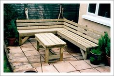 Image result for corner garden bench uk