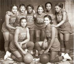 """basketball team -- uniforms sponsored by """"PAYNE FOR COUNCIL"""" -- what a great variety of expressions!"""