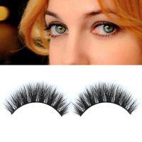 1 pair 3D Handmade Mink Hair Long Messy Natural False Eyelashes Eye Lashes Make Up Charming Eyelash Extensions Handmade FE#8
