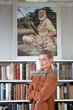 Margaux Hemingway at her grandfather Ernest Hemingway's house, June 1978 in Havana, Cuba.