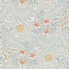 The Original Morris & Co - Arts and crafts, fabrics and wallpaper designs by William Morris & Company | Products | British/UK Fabrics and Wallpapers | Larkspur (DARW212556) | Archive II Wallpapers