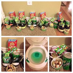 St patty's morning ideas. Oh my goodness, the toilet thing is AWESOME.