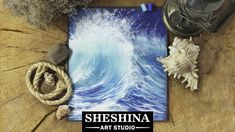 How to draw a sea wave with soft pastels  Sheshina Ekaterina