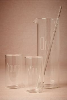 (WEDDING PRESENT)  Yours, Mine + Ours Drink Set from BHLDN