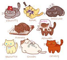 Neko Atsume Gravity Falls Cats!!!!SO CUTE