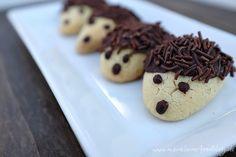 Igel-Kekse aus einem einfachen 1-2-3-Mürbeteig. Sind sie nicht entzückend?