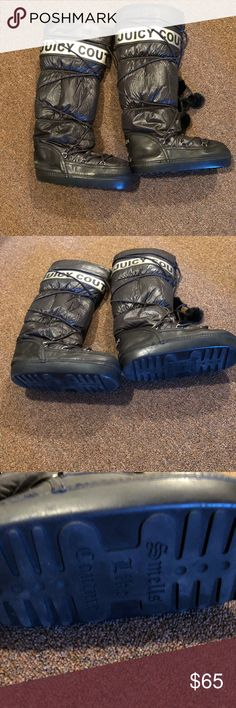 Juicy Couture Moon Boots Juicy Couture Moon Boots in Great Condition Juicy Couture Shoes Winter & Rain Boots