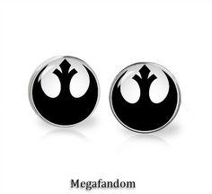 Stud earrings alliance insignia star wars earrings fandom jewelry
