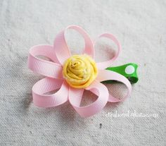 Cute flower clip