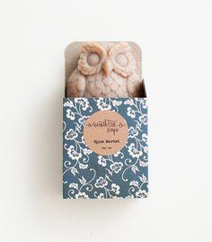 Chai & Vanilla Owl Soap - Natural, Handmade, Cold Processed, Vegan.