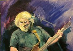Bill Kassel Fine Arts: On my easel - Jerry Garcia