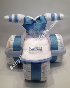 Tricycle Diaper Cake - Baby Boy Diaper Cakes - Baby shower gift ideas