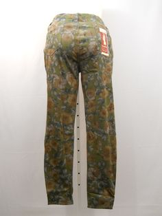 SIZE XL Women's Knit Jeggings FADED GLORY Floral Print Mid Rise Inseam 30 #FadedGlory