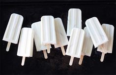 Coconut ice pops.