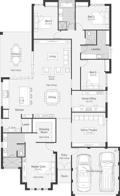 The Promenade by Atrium Homes, Find all of Perth Display Homes, Villages, Builders on one easy site. Search Builders, Displays & Floor plans by images or on maps along with their House & Land Packages. New House Plans, Dream House Plans, House Floor Plans, The Plan, How To Plan, Home Design Floor Plans, House Blueprints, Display Homes, Sims House